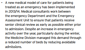 emergency department models of care